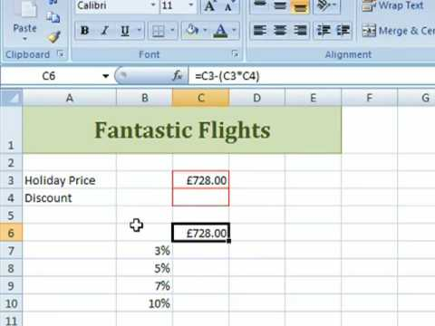 Data Table Excel Example Excel 2007 Data Tables 1
