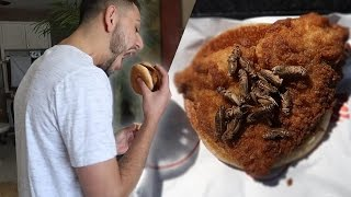 DISGUSTING CRICKETS IN BURGER PRANK!!