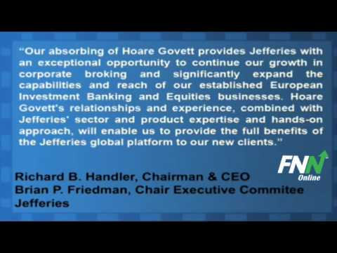 Jefferies To Acquire Hoare Govett From Royal Bank of Scotland