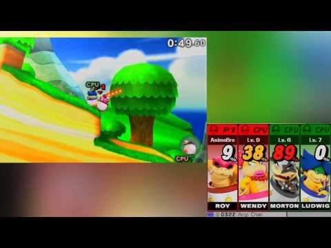 ABM: Super Smash Bros 3DS Team Roy VS Team Ludwig HD !!
