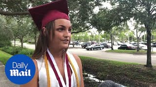 Parkland remembers four slain seniors on graduation day - Daily Mail