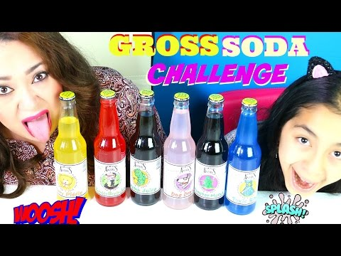 TOTALLY GROSS SODA CHALLENGE!Kitty Piddle Dog Drool Toxic Slime|B2cutecupcakes