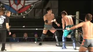 Battlarts   Ikuto Hidaka & Munenori Sawa vs Yuta Yoshikawa & Katsumi Usuda 07 02 2010