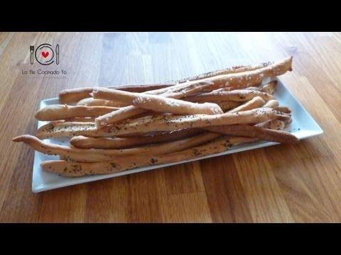 Cómo hacer Grisines o Palitos de Pan (Receta Italiana) | LHCY