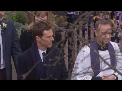 Benedict Cumberbatch and Duchess of Wessex arrive for Richard III service