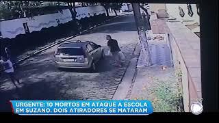 Vídeo mostra fuga de alunos pelo muro e aproximação de policial