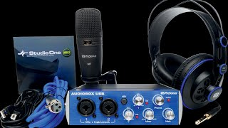 PRESONUS Audiobox USB Studio Bundle : Un pack complet ! (La Boite Noire)