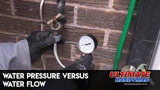 Water pressure versus water flow