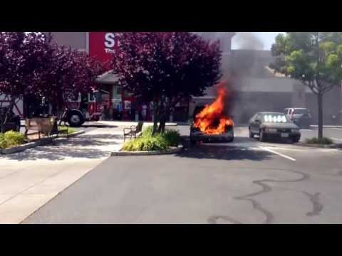 Fully Involved Car Fire Petaluma California