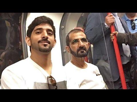 Sheikh Mohammed and Sheikh Hamdan take the London Underground