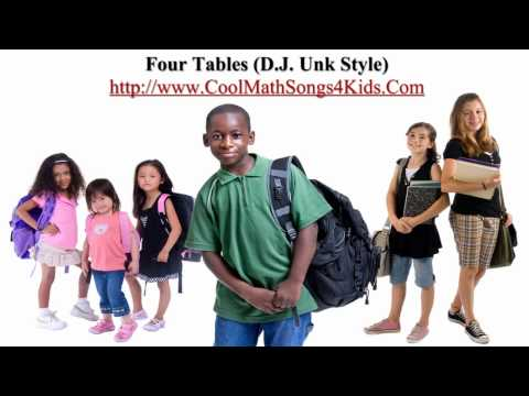 Times tables (d.j. unk style) - cool math songs 4 kids
