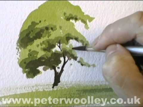 A Simple Tree - Watercolour Demonstration by PETER WOOLLEY
