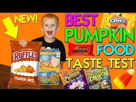 Pumpkin Spice Ruffles!! Yummy Fall Foods Taste Challenge || Family Fun Pack