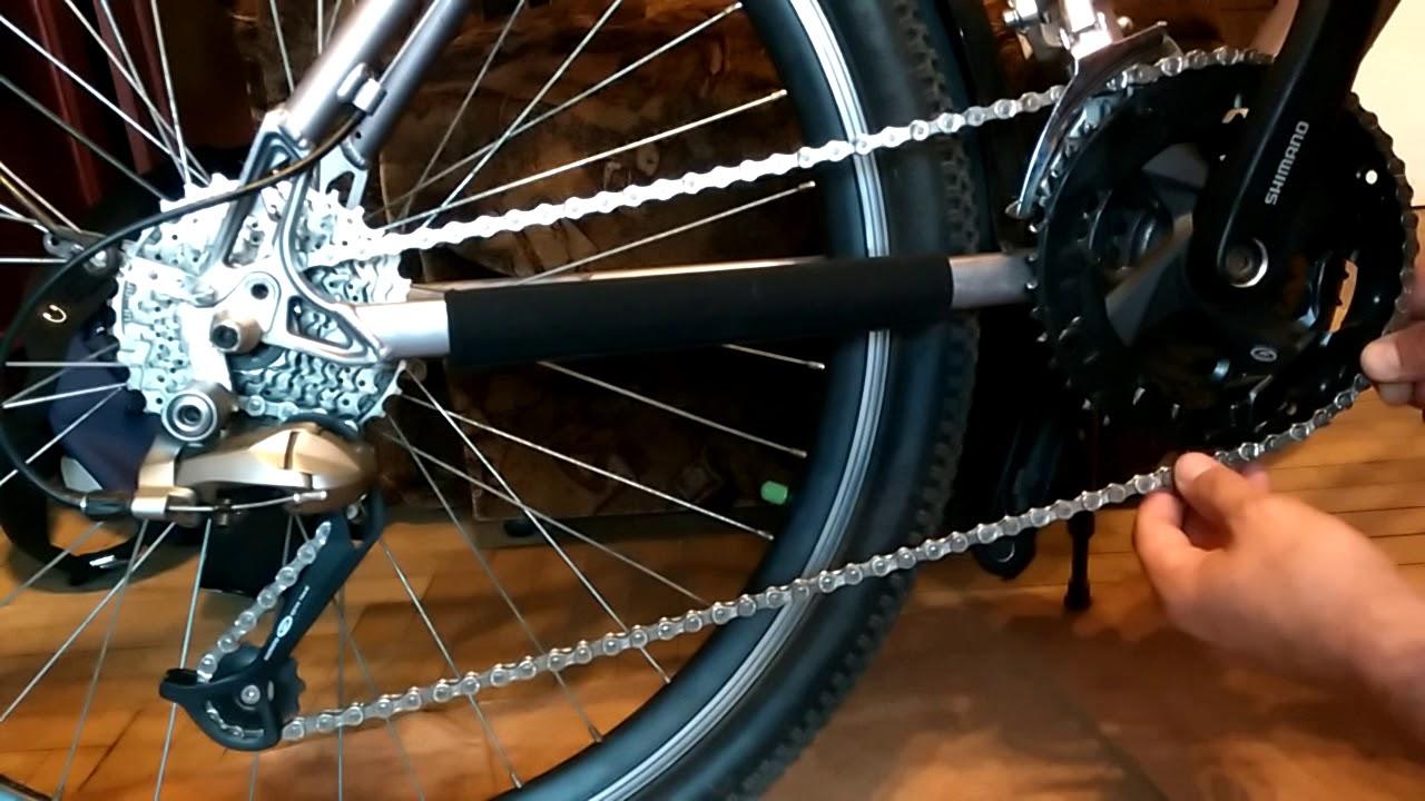 Как поменять цепь на велосипеде в домашних условиях 396