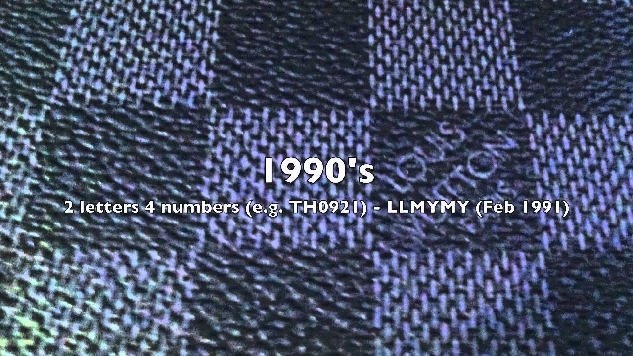 Date code of a Louis Vuitton Saumur bag 882 V.I.