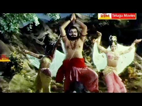 Hiranya Kasyapa Pray Lord Brahma - Extraordinary Scene In Bhakta Prahlada Telugu Movie video