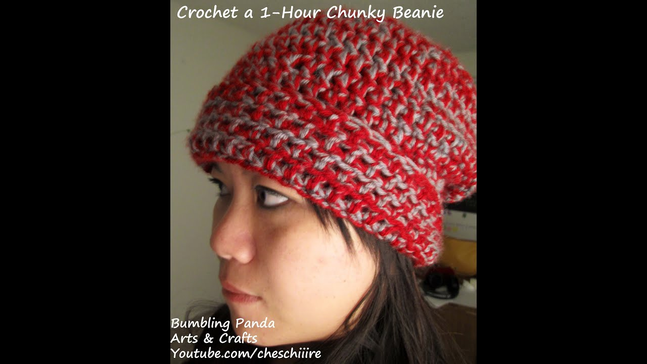 Easy Chunky Crochet Hat Pattern : Crochet an Easy, 1-Hour Chunky Beanie - YouTube