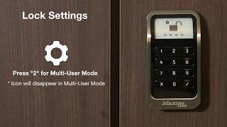 Master Lock 3681 ADA-Compliant Electronic Built-In Locker Lock Display Options