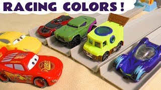 Hot Wheels Learn Colors racing Cars Spongebob and PJ Masks Catboy with Funny Funlings TT4U