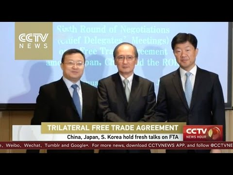 China, Japan & S. Korea hold fresh talks on FTA