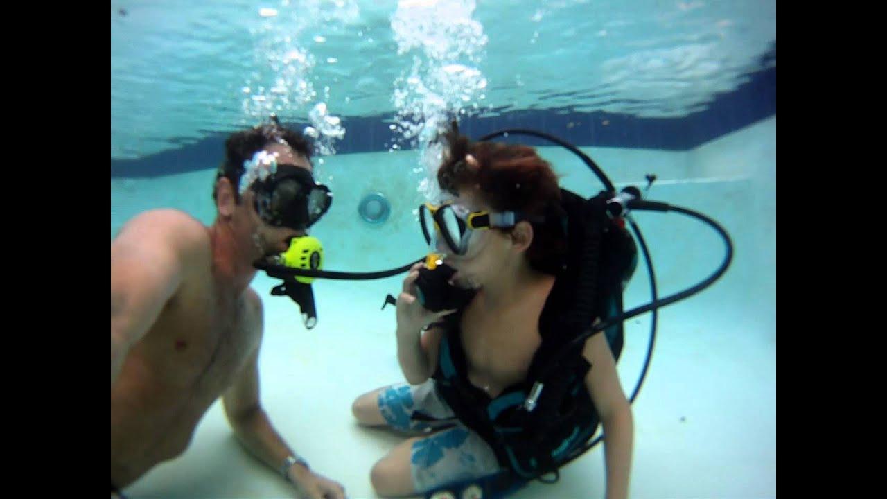 Pool Scuba Divers Scuba Diving in my Pool