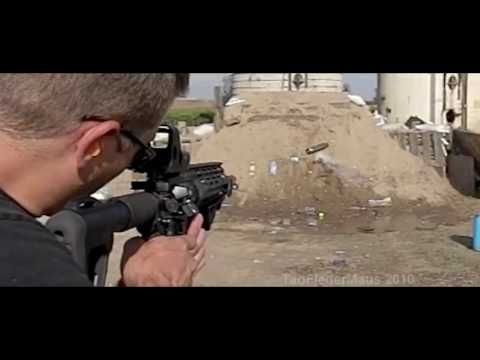 AR-15 Rifle SLO-MO Demo -  POF/EOTECH