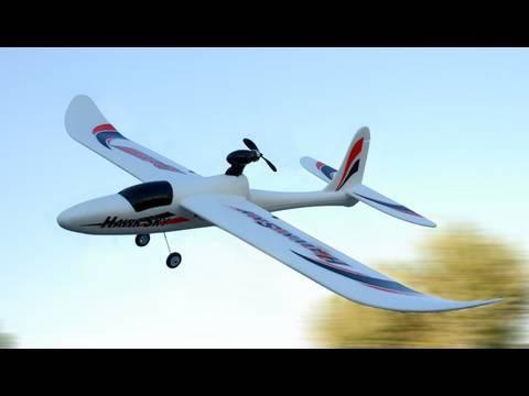 4 Channel Dynam Hawk Sky Electric Brushless Powered Glider