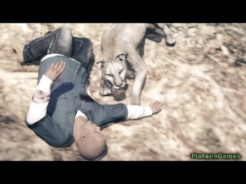 GTA V - Wild Mountain Lion Attack 1 - Fatal Encounter - Grand Theft Auto 5 PS3 Gameplay - HD