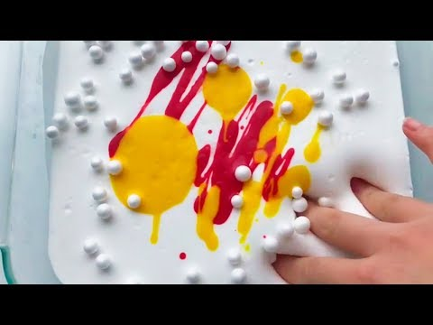 Slime Coloring || Relaxing Satisfying Slime !! #74