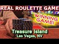 WINNING BY MYSELF! - Live Roulette Game #25 - Treasure Island, Las Vegas, NV - Inside the Casino