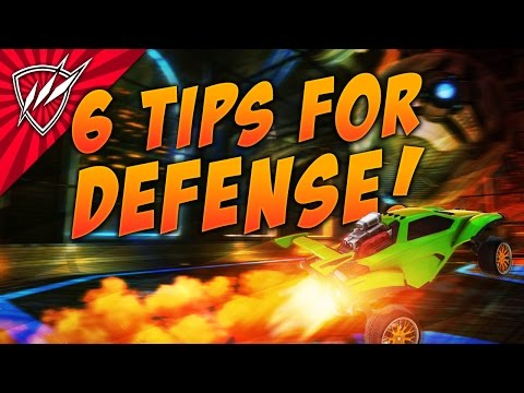 6 DEFENSE TIPS Rocket League Tutorial | Trainer Pack Shots!