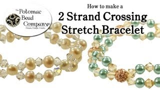 How to Make a 2 Strand Crossing Stretch Bracelet