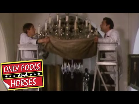 FUNNY! Only Fools: Del Boy & Rodney smash the chandelier - Comedy Greats - BBC