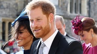 Did Harry and Meghan make their baby announcement at Princess Eugenie's wedding?