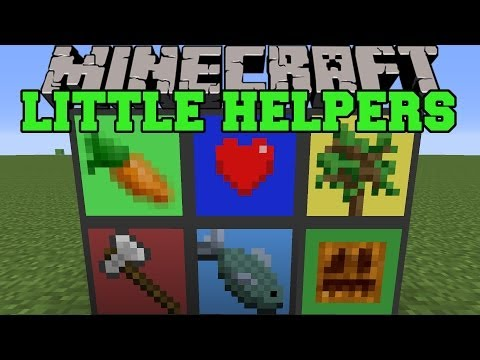 Minecraft: LITTLE HELPERS (AUTOMATIC FARMS AND BREEDING) Mod Showcase