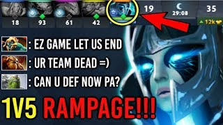 1vs5 RAMPAGE! Divine Rapier PA vs Megacreeps All Team Dead EPIC Comeback by SpeedMan 7.22 Dota 2