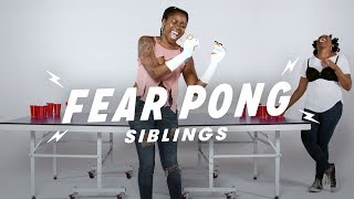 Siblings Play Fear Pong (Vanessa vs. Natalie) | Fear Pong | Cut