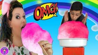ALGODON de azucar GIGANTE Challenge para mi bebe REBORN - Los Juguetes de JJ