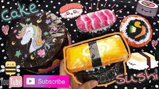 Cách Làm Squishy Giấy 3D Hình Sushi Và Bánh kem Xinh! Making Paper Squishy Shape Sushi,Cake| Bee Bee