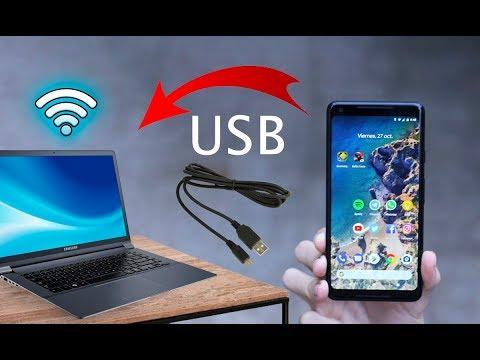 2016 Compartir Internet de tu Android a tu PC por cable USB Actualizado