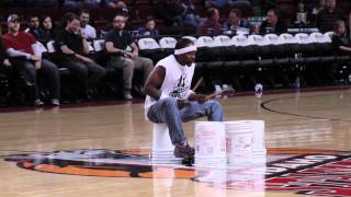 Peter Rabbit The Bucket Drummer - Idaho Stampede Half-Time Show - Jan. 13, 2012