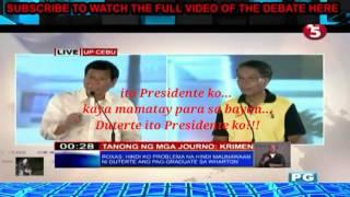 Duterte sinabon si Mar roxas