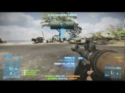 Battlefield 3 5 Man Chopper kill with RPG