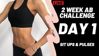 ABS IN 2 WEEKS   DAY 1   WORKOUT #WithMe CHALLENGE