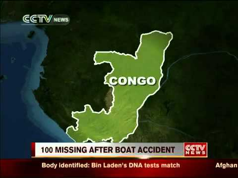 100 missing after boat capsized in DR Congo