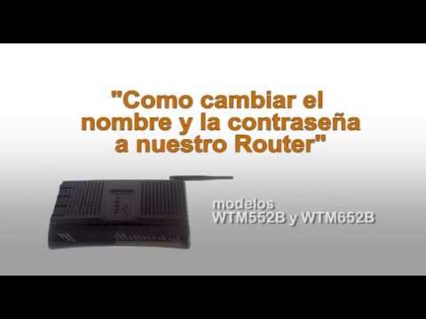 Cambiar clave wifi router Arris modelo WTM series