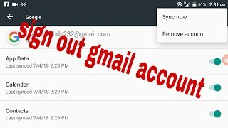 how to sign out gmail from android   bangla tutorial
