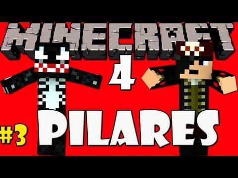MINECRAFT: Desafio dos 4 Pilares - 3º Episódio =] + Server de 128 Slots