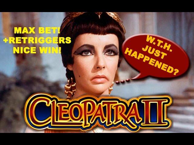 MAX Bet! - Cleopatra II - W.T.H. Just Happened? - Nice Slot Win - Slot Machine Bonus