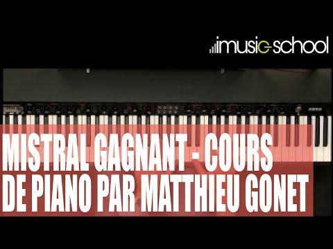 Partition de piano mistral gagnant